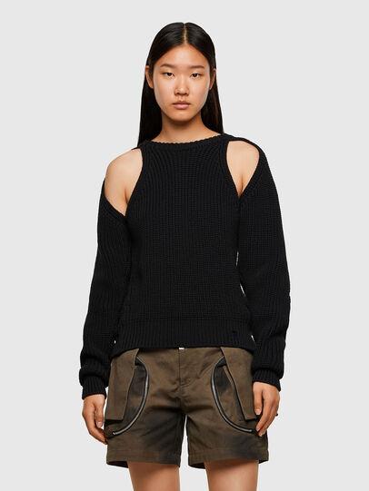 Diesel - M-SAPPHIRE, Black - Knitwear - Image 1