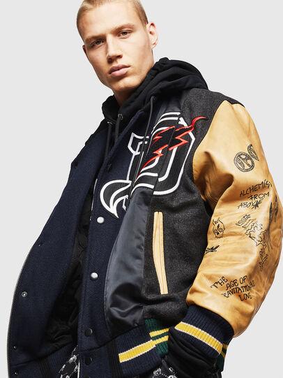 Diesel - L-ANTON, Black - Leather jackets - Image 4