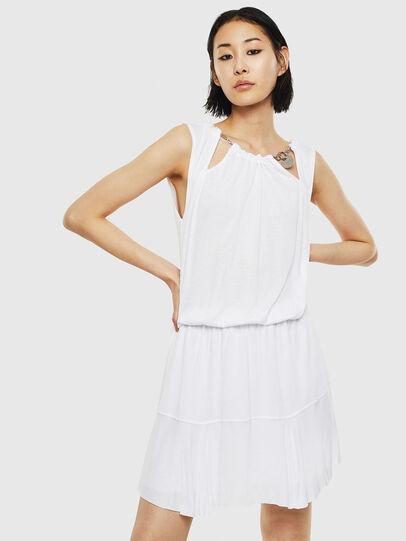 Diesel - D-ROCKI, White - Dresses - Image 1