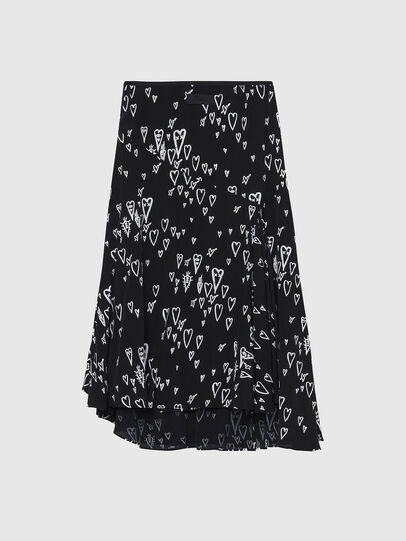 Diesel - O-SPRING-LONG, Black - Skirts - Image 2
