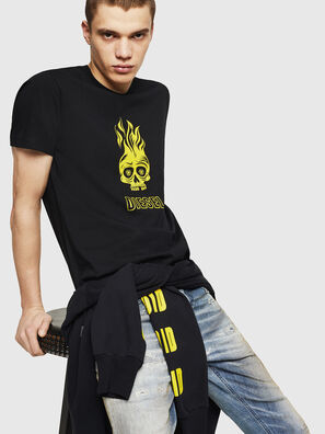T-DIEGO-A11, Black/Yellow - T-Shirts