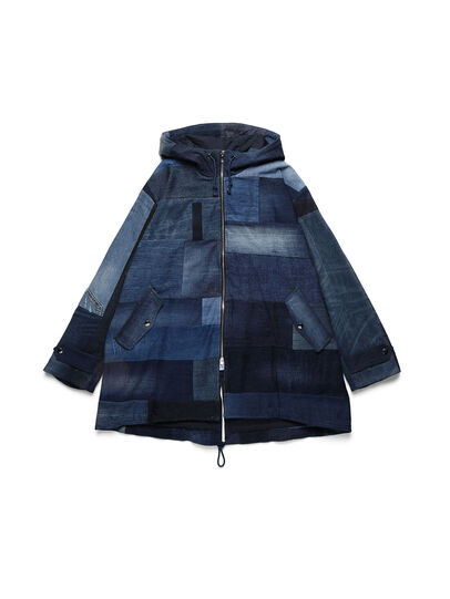 Diesel - D-55PARKA, Medium blue - Winter Jackets - Image 1