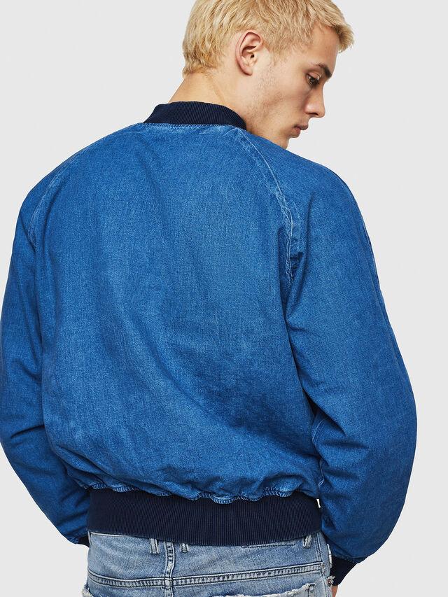 Diesel - D-BAK, Blue Jeans - Denim Jackets - Image 6