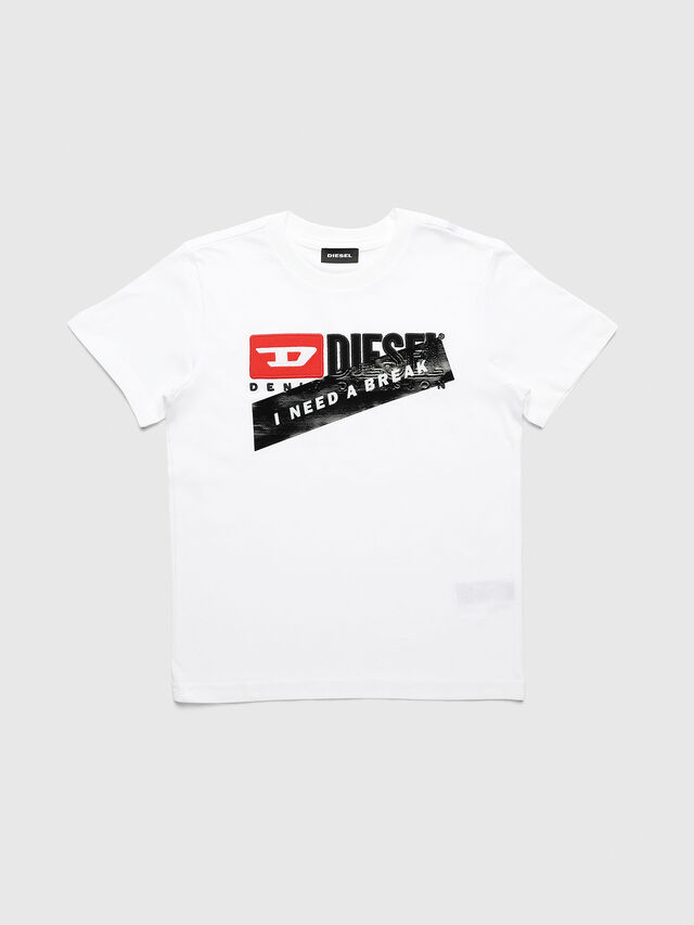 Diesel - UN-K-TJUSTDIVISION-A, White - T-shirts and Tops - Image 1