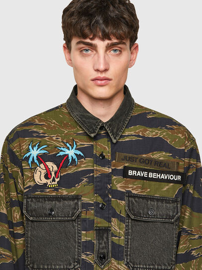 Diesel - S-BUNNELL-CMF, Military Green - Shirts - Image 3