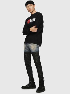 S-CREW-DIVISION, Black - Sweaters