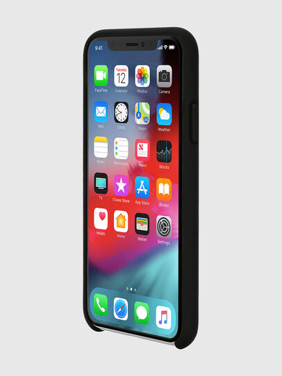 Diesel - DIESEL PRINTED CO-MOLD CASE FOR IPHONE XS & IPHONE X, Black/White - Cases - Image 3