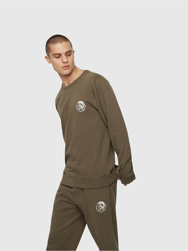 Diesel UMLT-WILLY, Military Green - Sweaters - Image 1