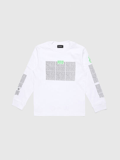 Diesel - TJUSTLS-NEW, White - T-shirts and Tops - Image 1
