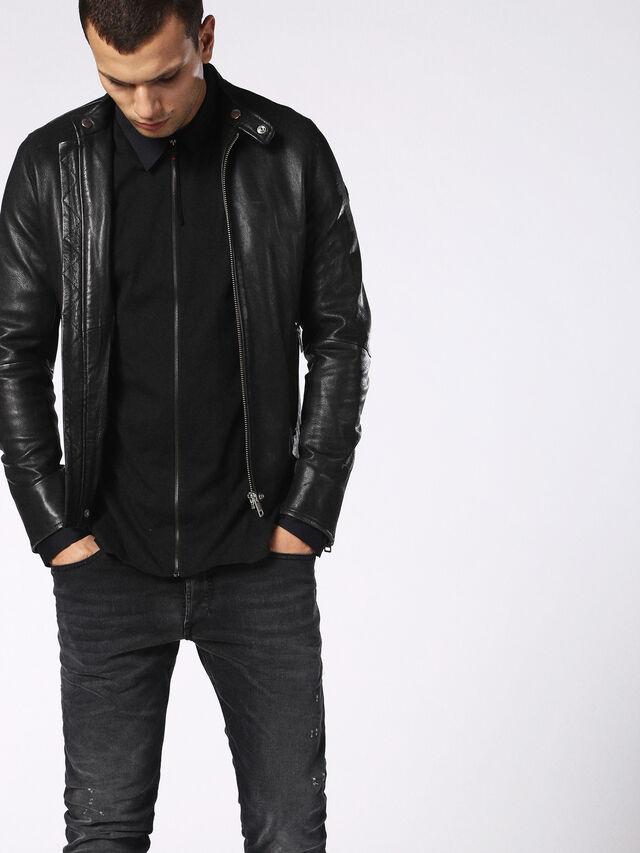 Diesel - DVL-SHIRT-MALE-RE, Black - Shirts - Image 3