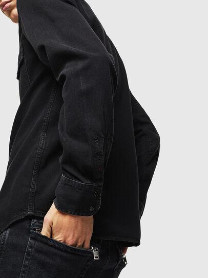 Diesel - D-EAST-P, Black - Denim Shirts - Image 5