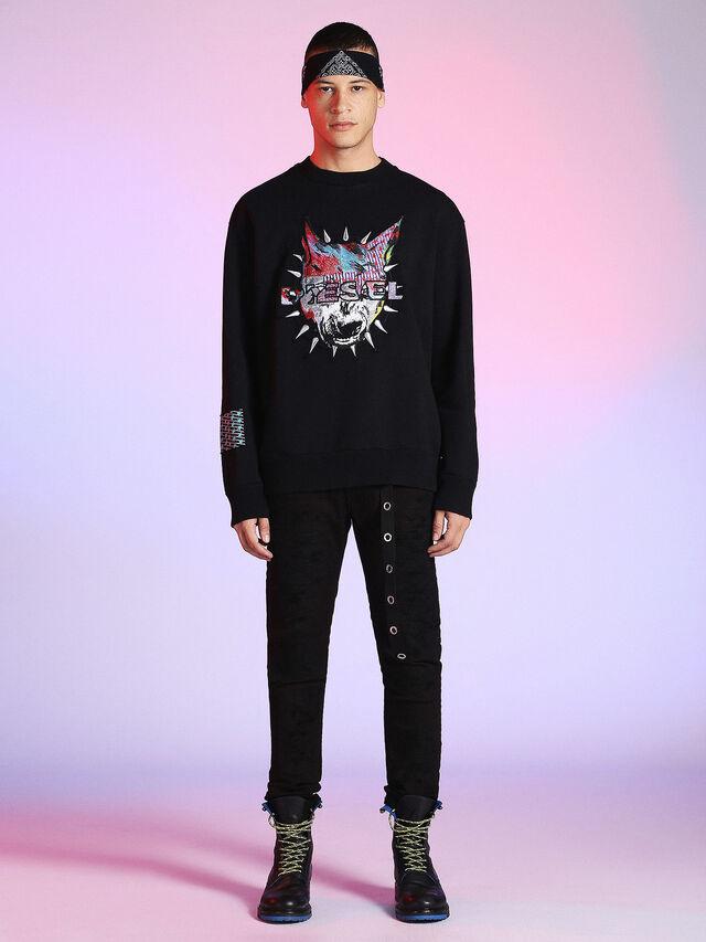 Diesel - LU-S-BAY, Black - Sweaters - Image 4