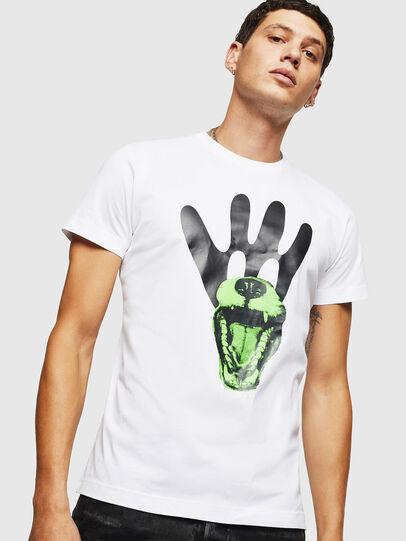 Diesel - T-DIEGO-B18, White - T-Shirts - Image 1