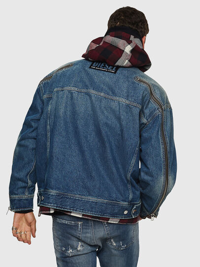 Diesel - D-LORY, Medium blue - Denim Jackets - Image 2