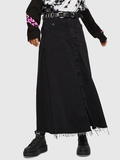 Diesel - D-RHITA JOGGJEANS, Black - Skirts - Image 1