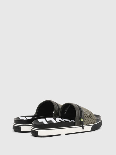 Diesel - SA-GRANDZ, Green/Black - Slippers - Image 3