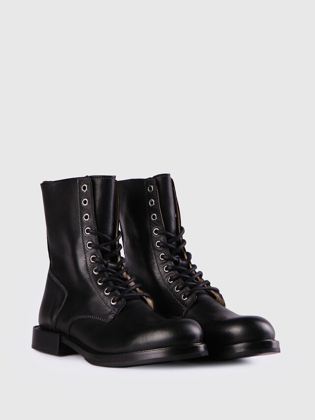 Diesel - D-KOMB BOOT CB, Black Leather - Ankle Boots - Image 2