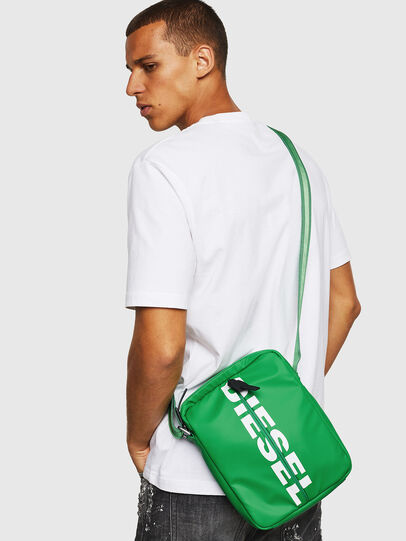 Diesel - F-BOLD SMALL CROSS, Green - Crossbody Bags - Image 6