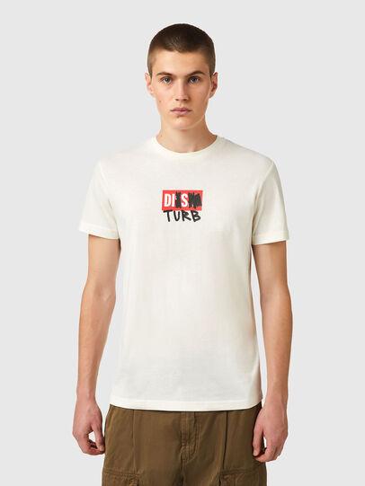 Diesel - T-DIEGOS-B10, White - T-Shirts - Image 1