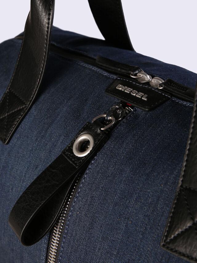D-RUBBER DUFFLE, Blue Jeans