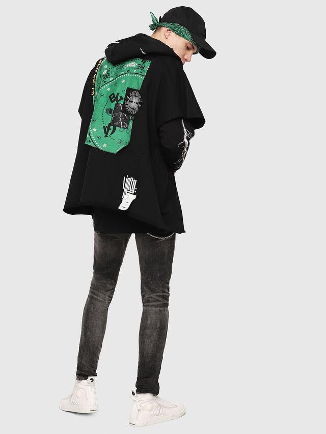 Diesel - S-MAKI-ZIP, Black/Green - Sweaters - Image 6