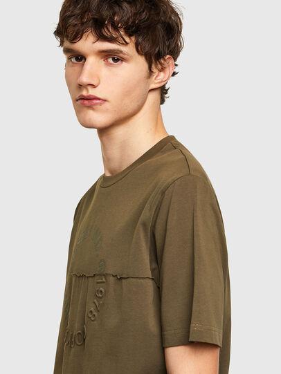 Diesel - T-JUSTEMB, Military Green - T-Shirts - Image 3