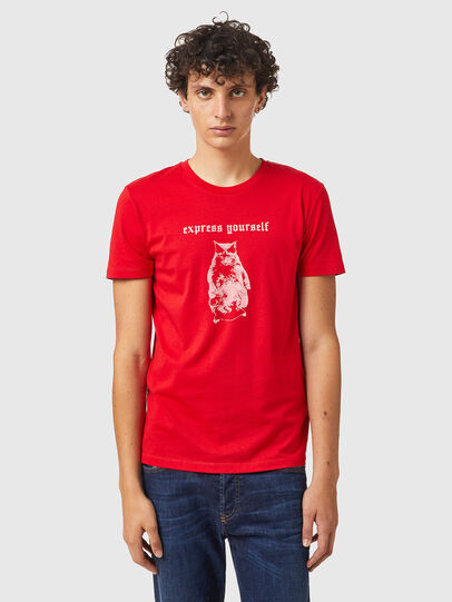 Diesel - T-INY-B2, Red - T-Shirts - Image 1