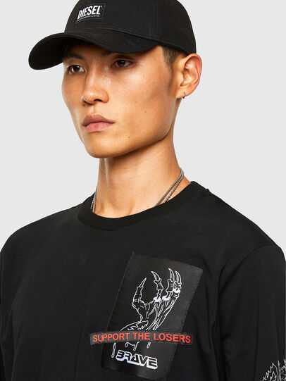 Diesel - T-JUST-LS-A9, Black - T-Shirts - Image 3