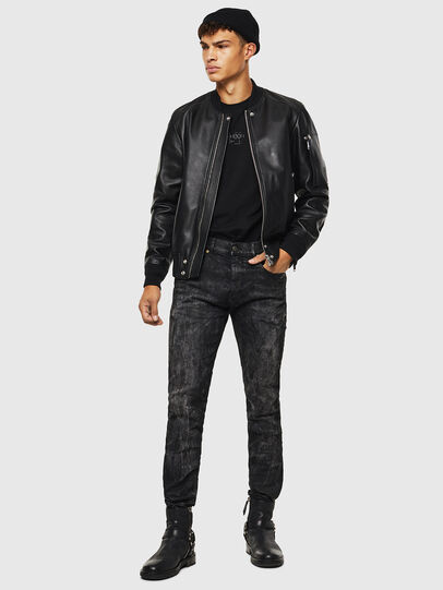 Diesel - L-JOSEPH, Black - Leather jackets - Image 7