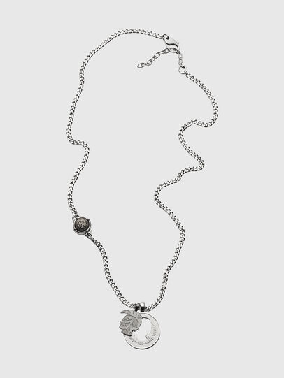 Diesel - DX1201, Silver - Necklaces - Image 1