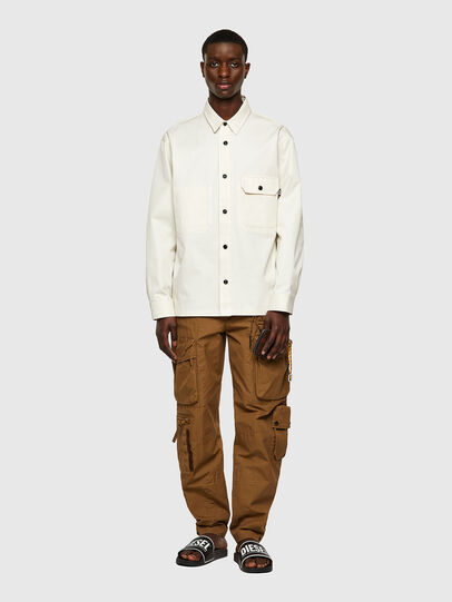 Diesel - S-BUNNELL-A, White - Shirts - Image 5