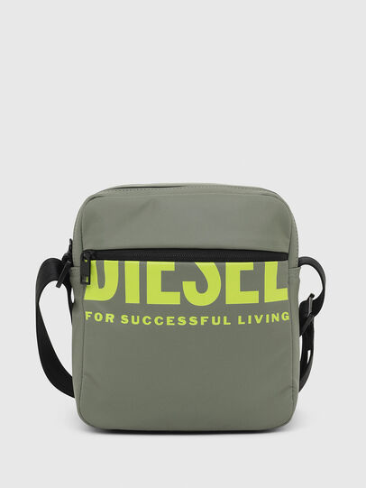 Diesel - F-BOLD DOUBLECROSS I, Olive Green - Crossbody Bags - Image 1
