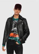 L-KRAMPIS, Black Leather - Leather jackets