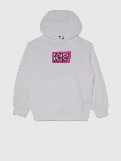 Diesel - SGIRKHOODX5 OVER, White - Sweaters - Image 1