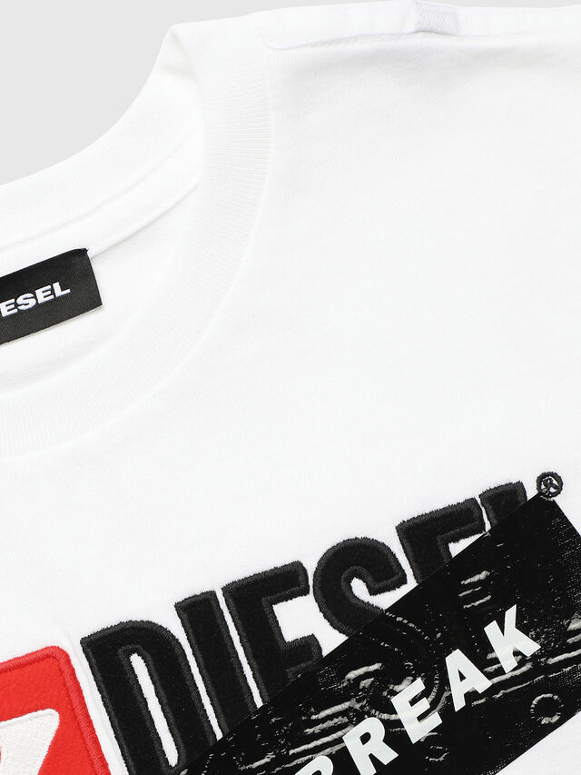 Diesel - UN-K-TJUSTDIVISION-A, White - T-shirts and Tops - Image 3
