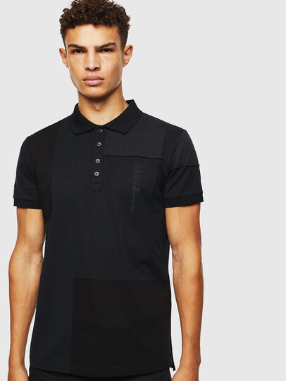 Diesel - T-POLPATCH, Black - Polos - Image 1