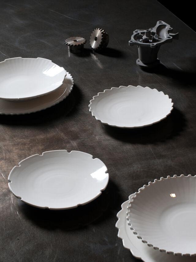 Living 10989 MACHINE COLLEC, White - Plates - Image 3