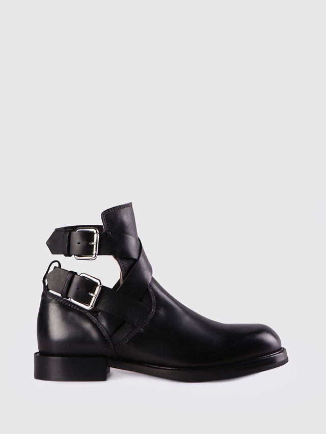 Diesel - D-KOMB BOOT FOB, Black Leather - Ankle Boots - Image 1