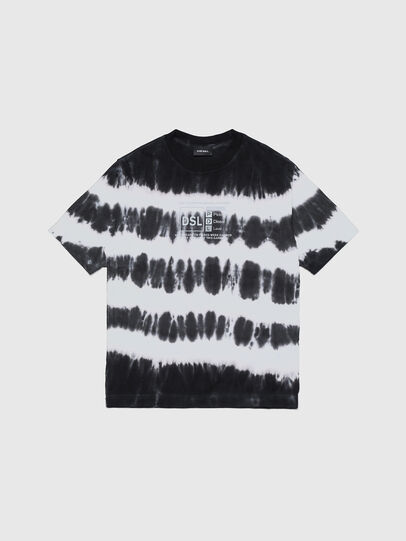 Diesel - TJUSTA38 OVER, Black/White - T-shirts and Tops - Image 1