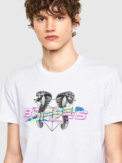 Diesel - T-DIEGOS-E35, White - T-Shirts - Image 3