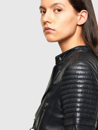 Diesel - L-IGE-NEW-A, Black - Leather jackets - Image 5