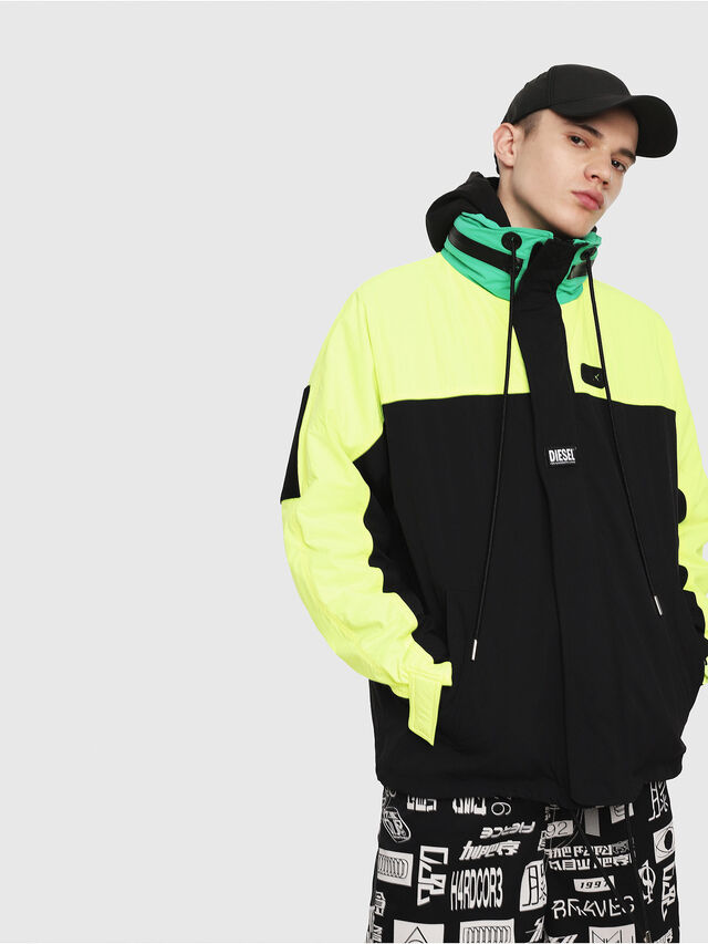 Diesel - J-FUTOSHI, Black/Yellow - Jackets - Image 1