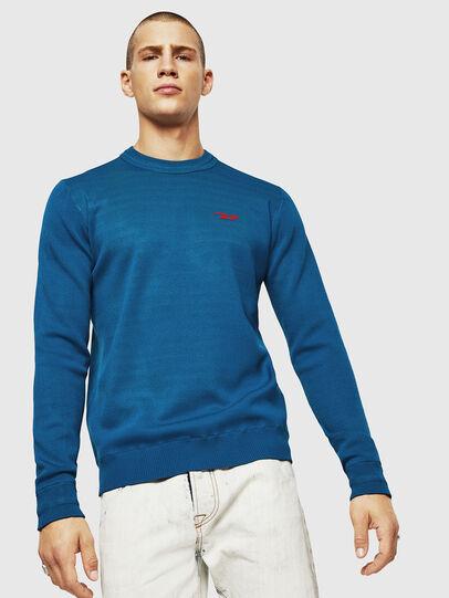 Diesel - K-LUISS, Blue - Knitwear - Image 1