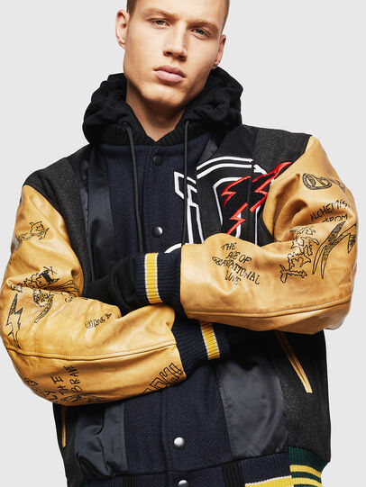 Diesel - L-ANTON, Black - Leather jackets - Image 1