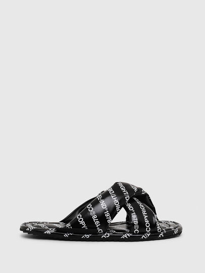 Diesel - SA-MERY X, Black/White - Slippers - Image 1