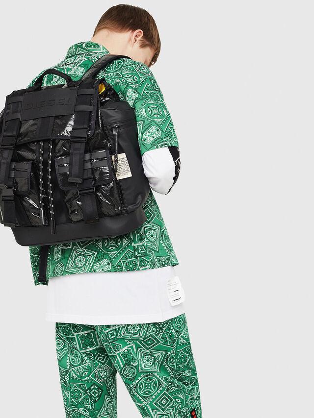Diesel - M-CAGE BACK, Black - Backpacks - Image 6