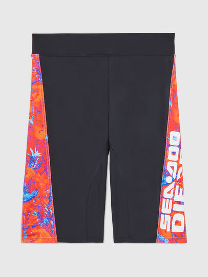 Diesel - BFPN-CYCLERDOO, Black/Orange - Swim shorts - Image 1