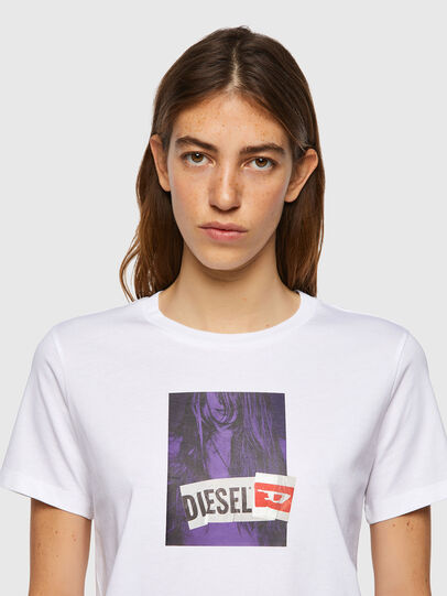 Diesel - T-SILY-B3, White - T-Shirts - Image 3