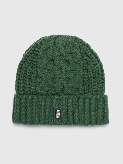 Diesel - K-KONEX, Dark Green - Knit caps - Image 2
