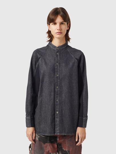 Diesel - DE-NOVA-SP1, Black - Denim Shirts - Image 1